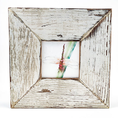 Dragonfly in rustic wood frame by Wanda Cox