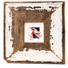 watercolor painting Toes in rustic frame by Wanda Cox