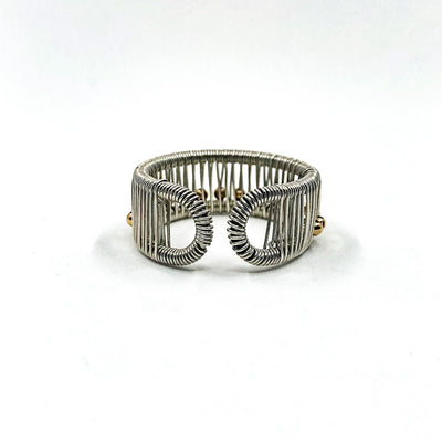 back side view of Sterling Ring with Gold Filled Balls by Tana Acton