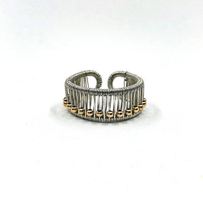 Sterling Ring with Gold Filled Balls by Tana Acton