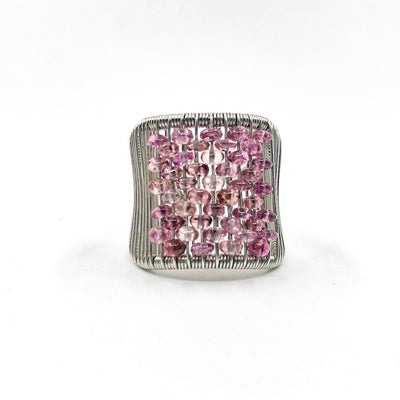 Sterling Ring with Pink Tourmaline by Tana Acton