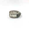 right side view of Sterling Ring with Round Faceted Labradorite Beads by Tana Acton