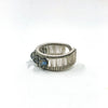 left side view of Sterling Ring with Round Faceted Labradorite Beads by Tana Acton