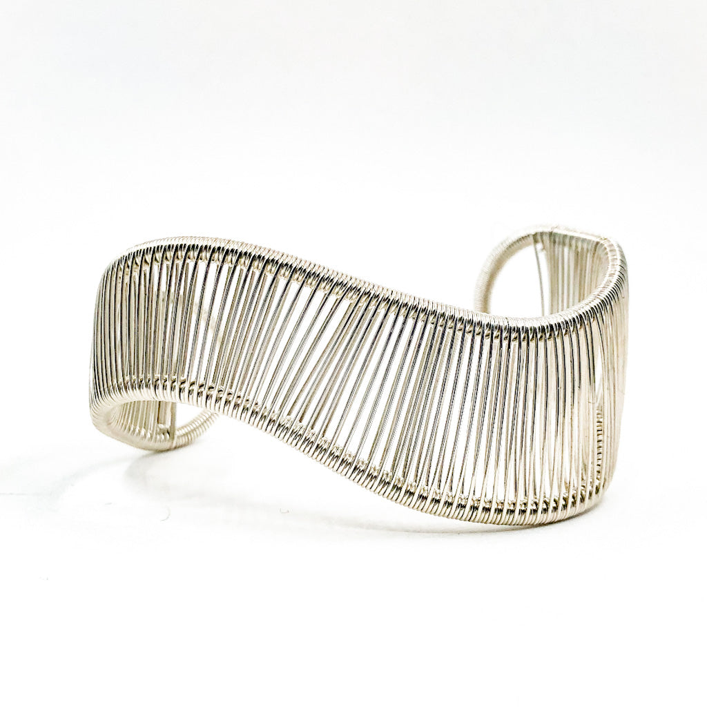 Sterling Asymmetrical L Wave Cuff by Tana Acton