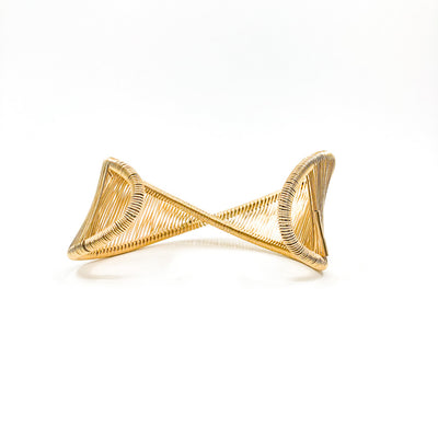 back side view of Gold Filled Center Mobius Cuff by Tana Acton