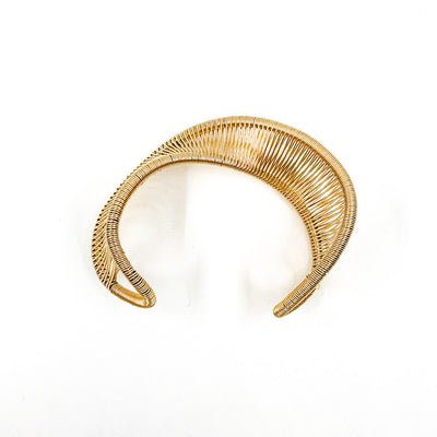 over top view of Gold Filled Center Mobius Cuff by Tana Acton