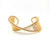 Gold Filled Center Mobius Cuff by Tana Acton