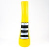 Patched Yellow Vase by Karine Demers against white background