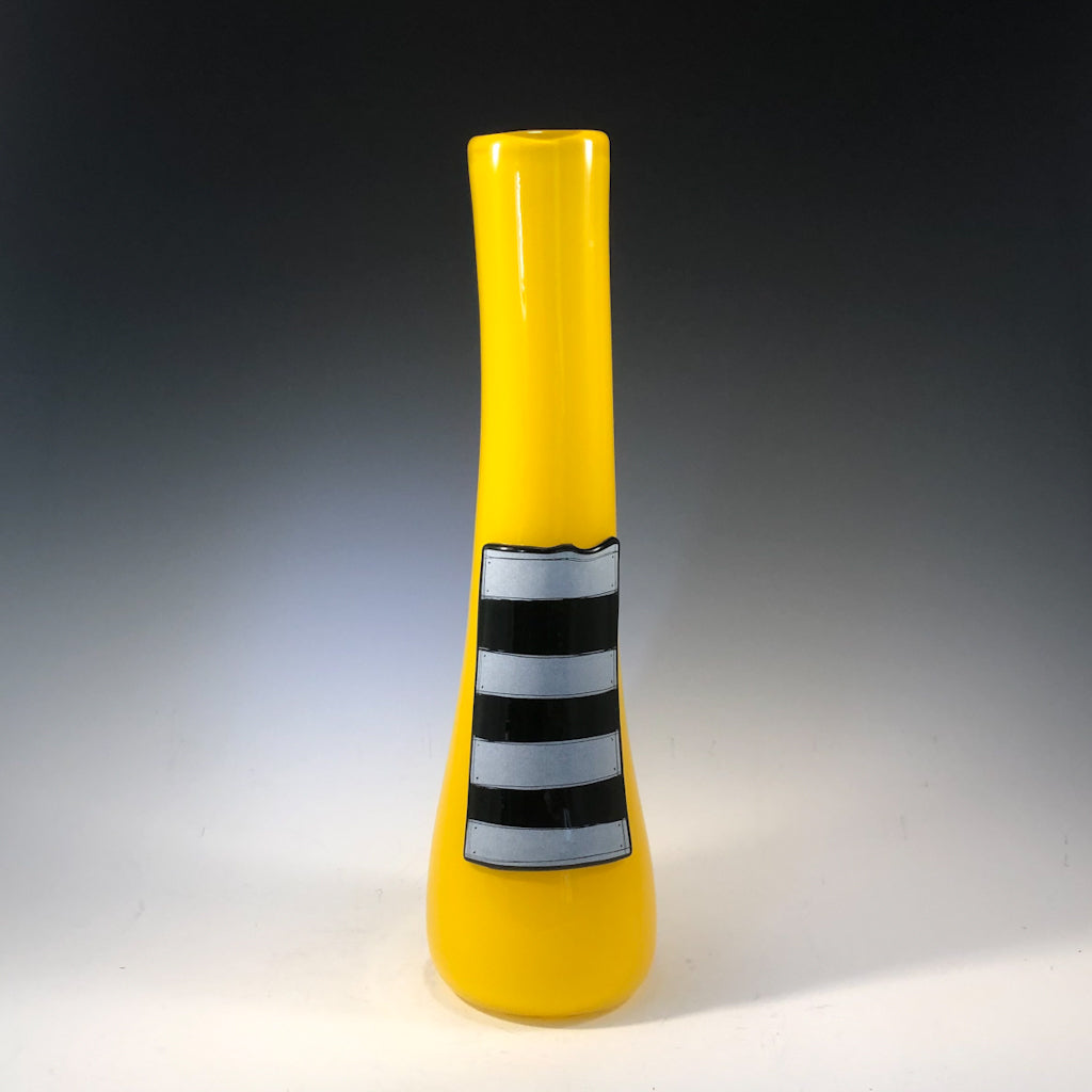 Patched Yellow Vase by Karine Demers