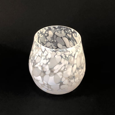 White Speckled Wine Tumbler