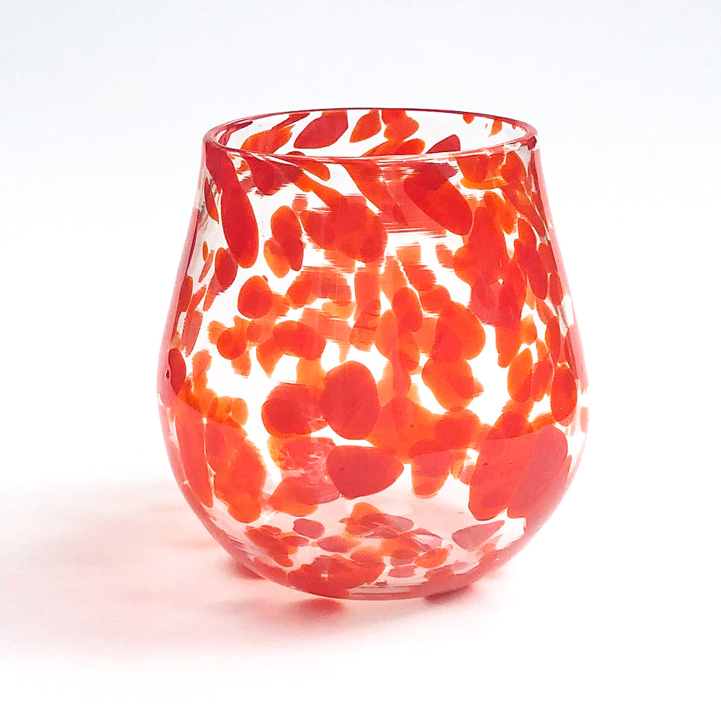 Red Speckled Wine Tumbler