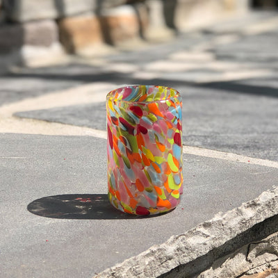 multi colored Shot Glass by Nate Nardi