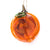 Handblown Glass Peach Ornament by Nate Nardi