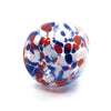bottom view of Red, White, and Blue Speckled Wine Tumbler by Nate Nardi