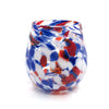Red, White, and Blue Speckled Wine Tumbler by Nate Nardi