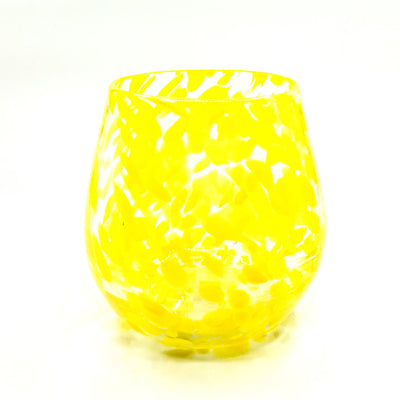 Yellow Speckled Wine Tumbler by Nate Nardi