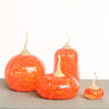 Orange Speckled Pumpkins with Pale Green Stems