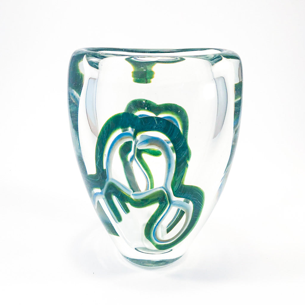 Figure 8 Clear Glass Vase by David Goldhagen