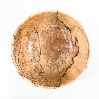 over top view of Spalted Sugar Maple Bowl by Steve Mickley