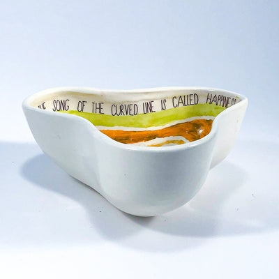 side view of Small Triangle Dish by Ruchi Gupta
