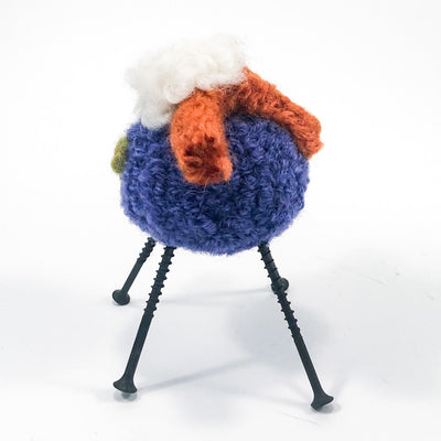 side view of Purple and Rust Felted Sheep by Deborah Webb