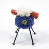 back view of Purple and Rust Felted Sheep by Deborah Webb