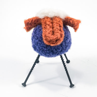 Purple and Rust Felted Sheep by Deborah Webb