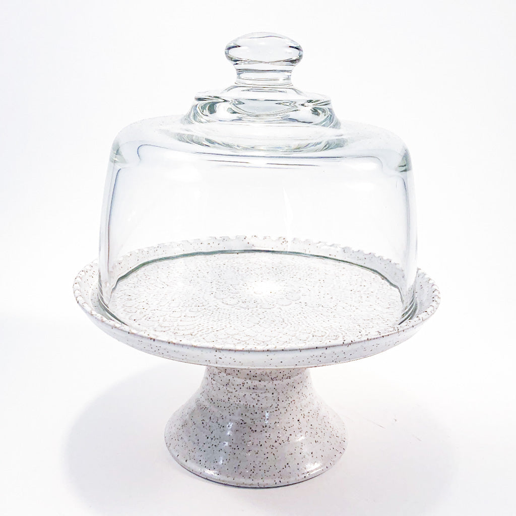 Snow Glazed Dome Server by Terrie Ponder Watch