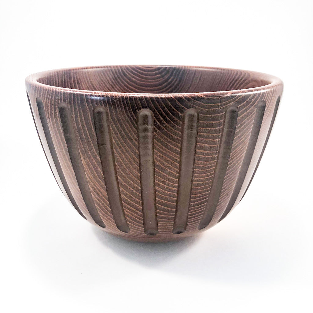 Osage Orange Bowl with Vertical Flutes by Wes Jones