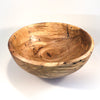 overhead angle view of Rustic Spalted Hickory Bowl by Gary Beasley