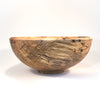 side view of Rustic Spalted Hickory Bowl by Gary Beasley