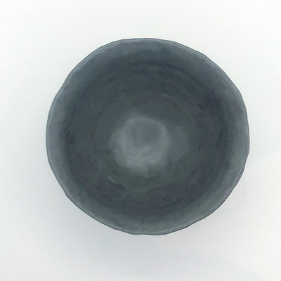 over top view of Charcoal Flared Rim Bowl by Nona Kelhofer