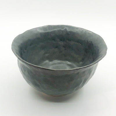 over top angle view of Charcoal Flared Rim Bowl by Nona Kelhofer