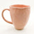 side view of Blush Enormous Mug by Nona Kelhofer