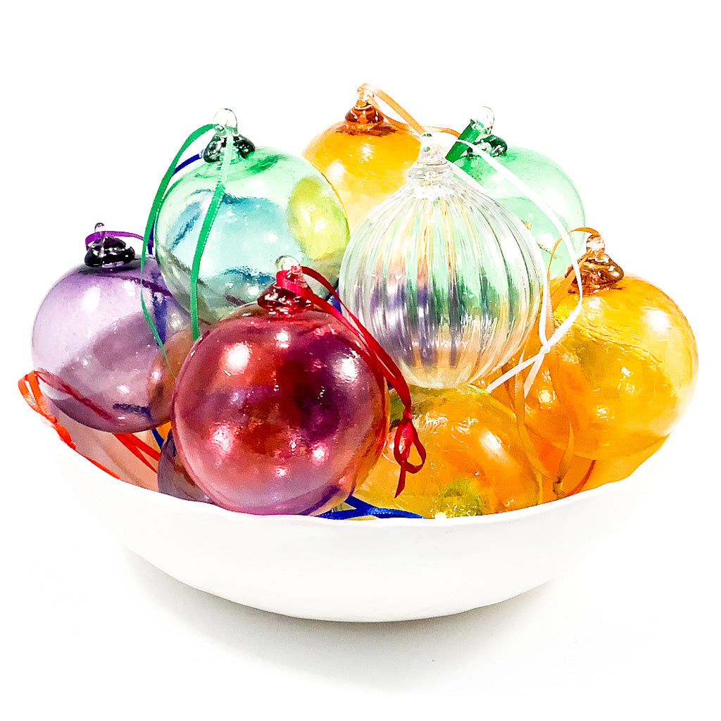 Transparent Glass Ornaments