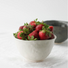 cream flared rim bowl by Nona Kelhofer with strawberries