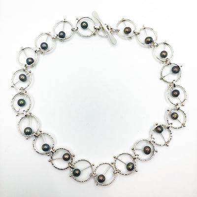 Sterling Not Naught Round Necklace