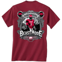Load image into Gallery viewer, Arkansas Beast Mode ss t shirt crimson