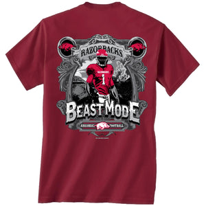 Arkansas Beast Mode ss t shirt crimson