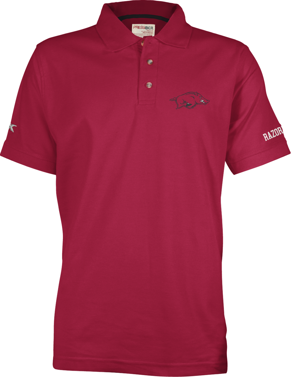 S/S Northfork Solid Polo - Cardinal Red