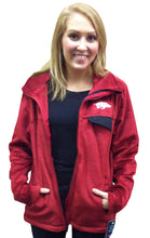Load image into Gallery viewer, Arkansas Zip Front Fleece Cardinal
