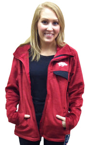 Arkansas Zip Front Fleece Cardinal