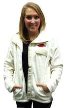 Load image into Gallery viewer, Arkansas Zip Front Fleece Cream