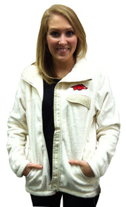 Arkansas Zip Front Fleece Cream