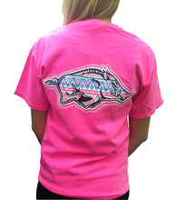 Load image into Gallery viewer, Aztec Razorback SS Tee - Neon Pink