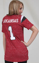 Load image into Gallery viewer, Arkansas Valkyrie football t shirt