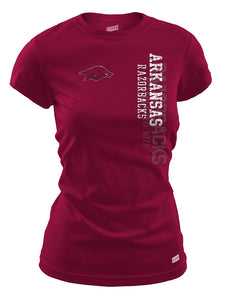 Arkansas Razorbacks on red