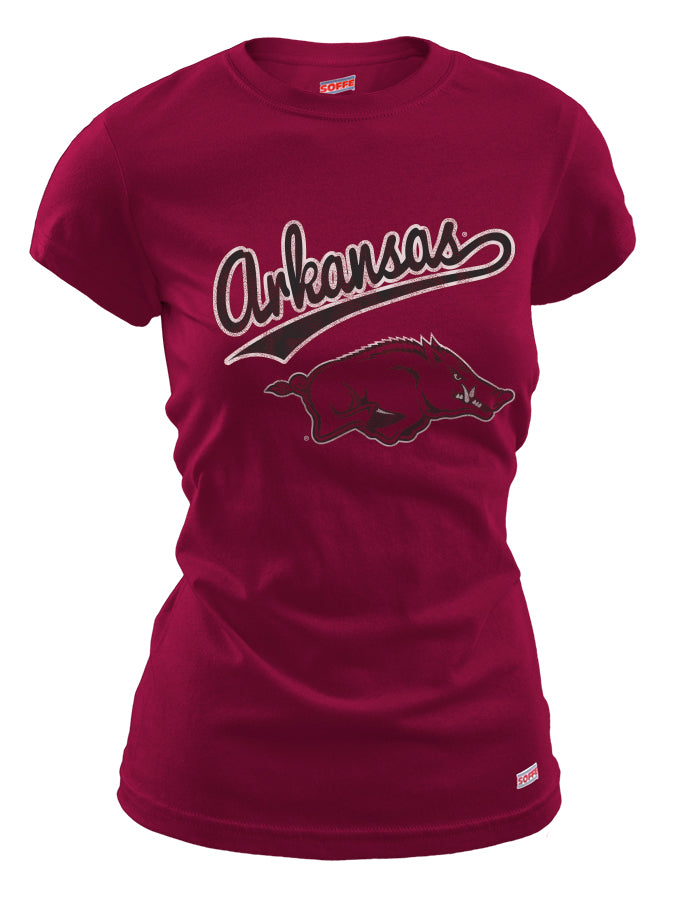 Arkansas Script  with Big Red