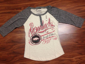 Arkansas Henley Tee