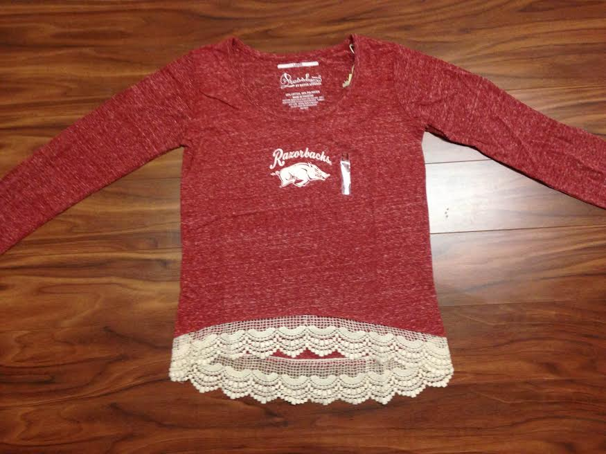 Arkansas Crochet Trim Top